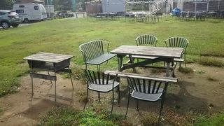 イス・テーブルのみのサイト(区画)